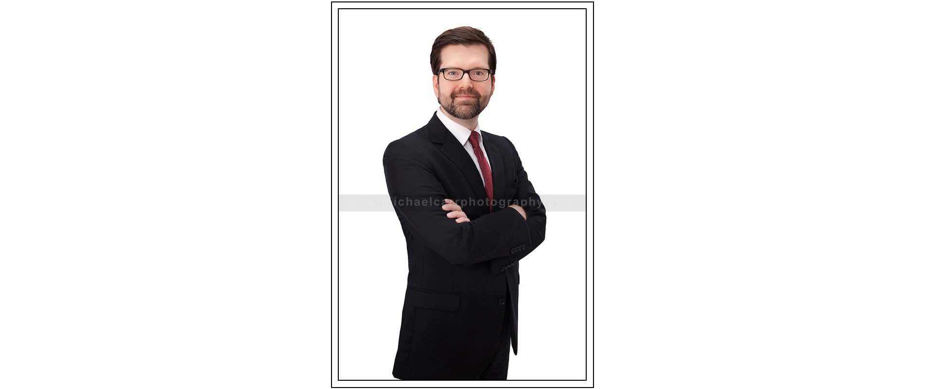 Business portrait on White background