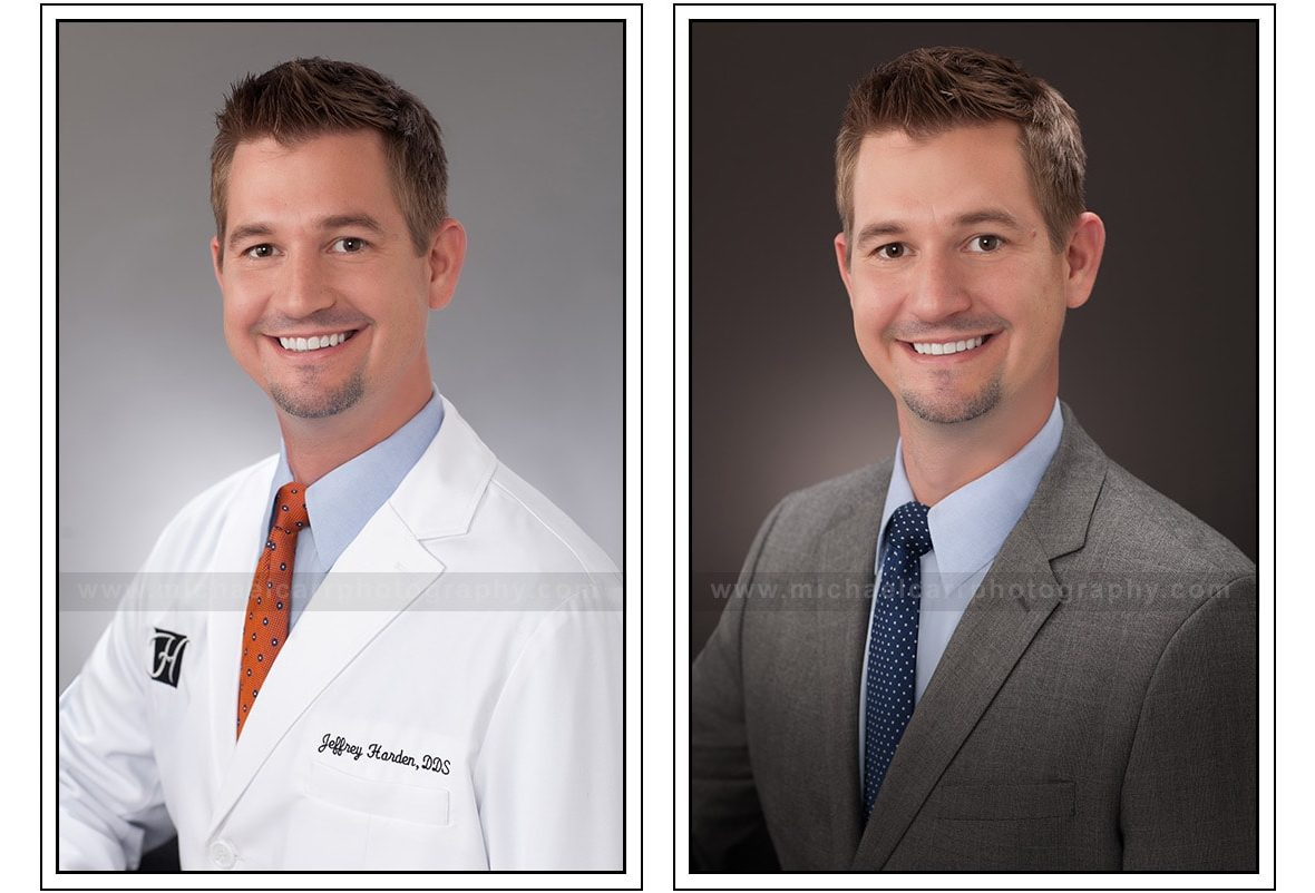 Houston Medical Headshots with and without Coat