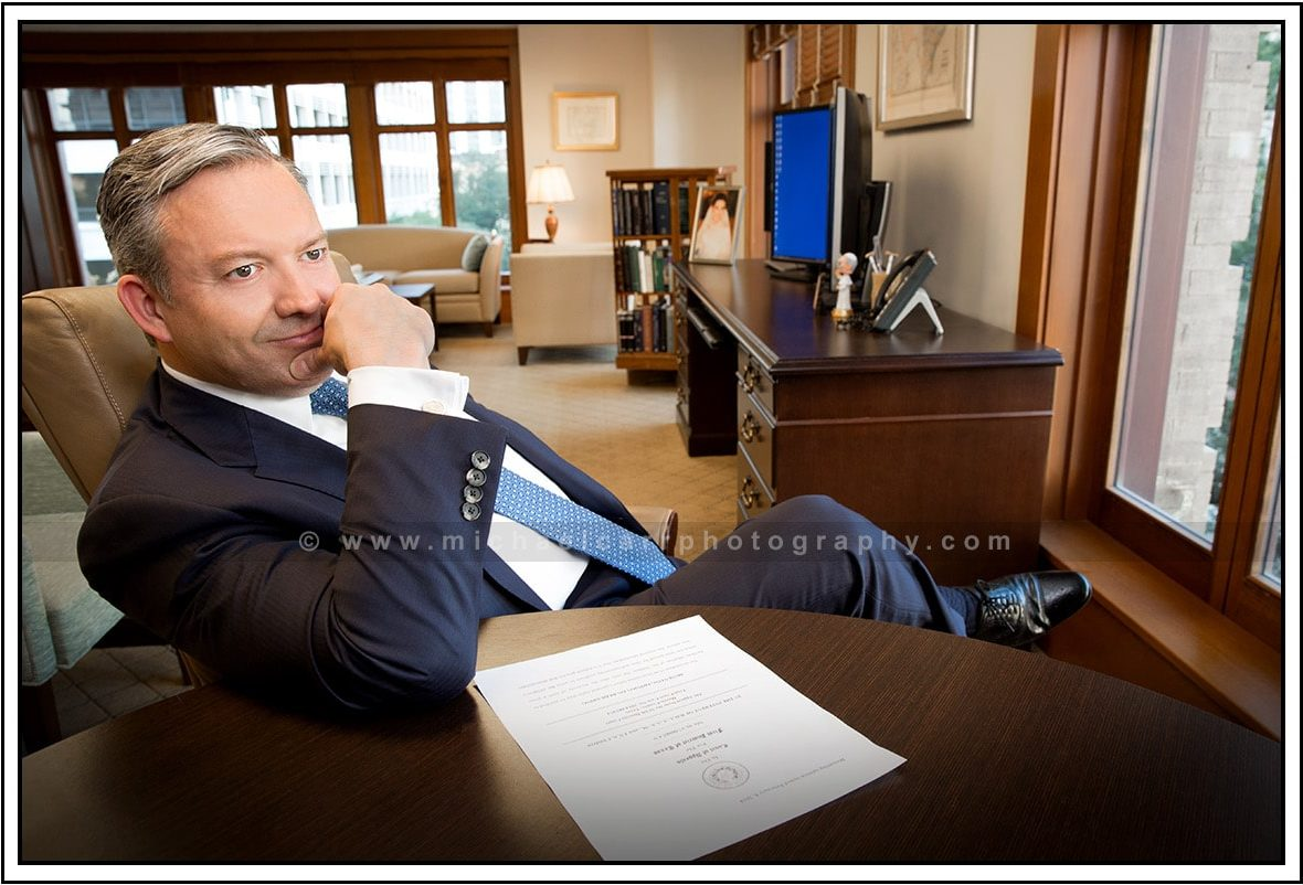 Business Headshots on Location in Office