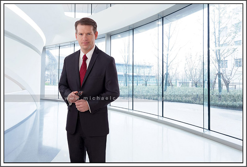 Business Portrait with Environment Backgrounds